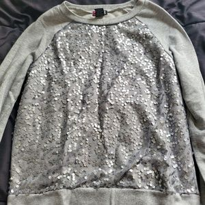 small long sleeve sequin front